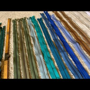 """Office - RESERVED 37 new zippers 20"""" - 23"""" for sewing"""
